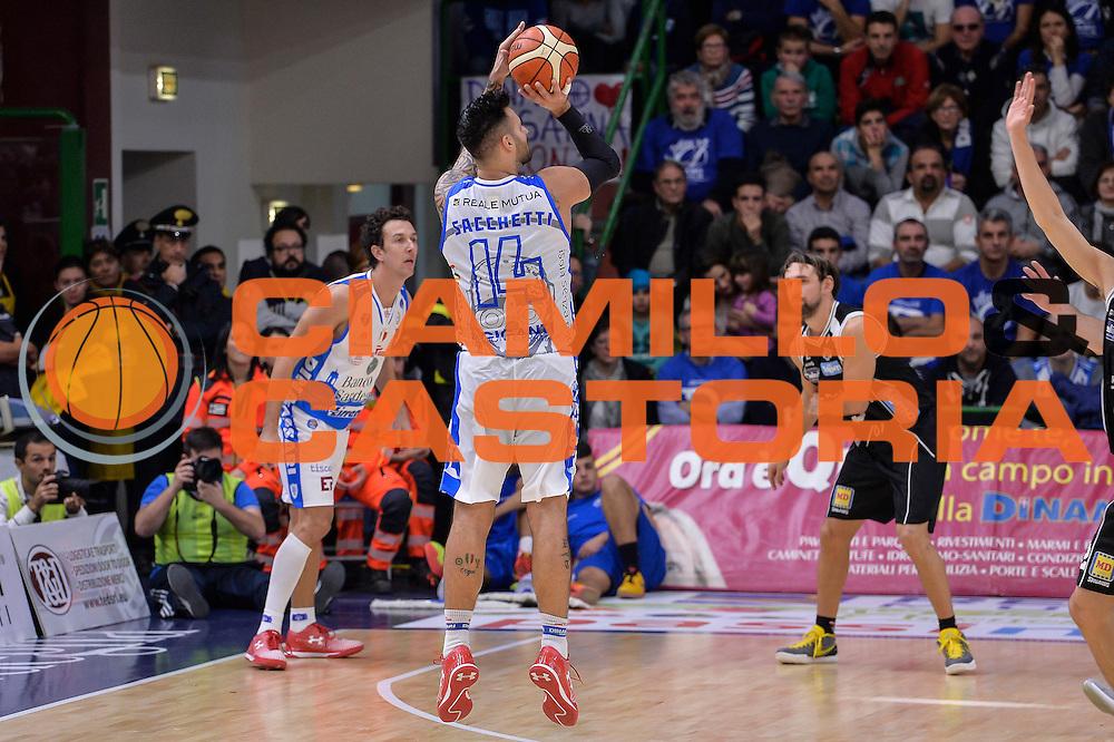 DESCRIZIONE : Campionato 2015/16 Serie A Beko Dinamo Banco di Sardegna Sassari - Dolomiti Energia Trento<br /> GIOCATORE : Brian Sacchetti<br /> CATEGORIA : Tiro Tre Punti Three Point Controcampo<br /> SQUADRA : Dinamo Banco di Sardegna Sassari<br /> EVENTO : LegaBasket Serie A Beko 2015/2016<br /> GARA : Dinamo Banco di Sardegna Sassari - Dolomiti Energia Trento<br /> DATA : 06/12/2015<br /> SPORT : Pallacanestro <br /> AUTORE : Agenzia Ciamillo-Castoria/L.Canu
