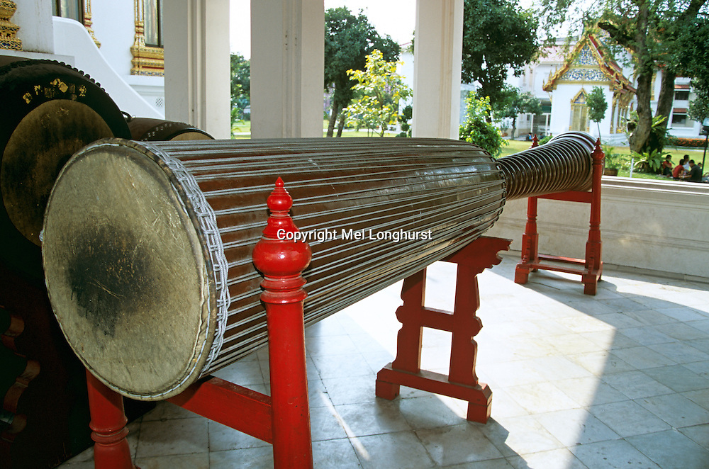 Long drum, Marble Temple, Wat Benchamabophit, Bangkok, Thailand