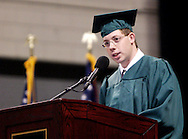 Student government president Joel Parker presents the graduating class during the 43rd Semiannual Commencement at the Nutter Center, Saturday, June 12, 2010.
