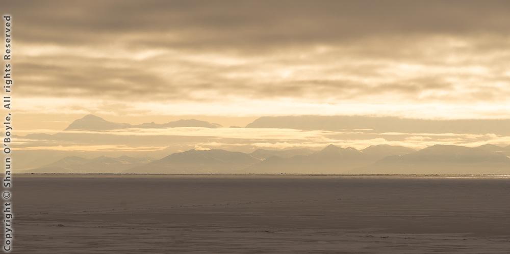 View across McMurdo Sound to the Trans Antarctic Mountains