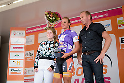 Chantal Blaak (Boels Dolmans) takes the lead in the combined classification at the 123 km Stage 3 of the Boels Ladies Tour 2016 on 1st September 2016 in Sittard Geleen, Netherlands. (Photo by Sean Robinson/Velofocus).