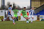 Forest Green Rovers Charlie Cooper(20) runs forward during the FA Trophy 2nd round match between Chester FC and Forest Green Rovers at the Deva Stadium, Chester, United Kingdom on 14 January 2017. Photo by Shane Healey.