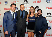 Director Rhys Thomas, left and producers Andrew Singer, Erin Doyle, and Sam Grey, attend the premiere of the movie Staten Island Summer at Sunshine Cinema, Tuesday, July 21, 2015, in New York.  The new comedy debuts on Netflix on July 30, 2015 and is available for Digital download. (Photo by Diane Bondareff/Invision for Paramount Pictures/AP Images)