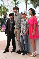 Rodolfo Dominguez, Diego Quemada-diez, Brandon Lopez, Karen Martinez at the La Jaula De Oro film photocall Cannes Film Festival on Wednesday 22nd May 2013