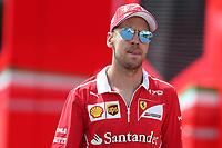 Monza - Formula 1 - Gran Premio d' Italia di Formula 1 - Nella foto: Sebastian Vettel  nei paddock di Monza
