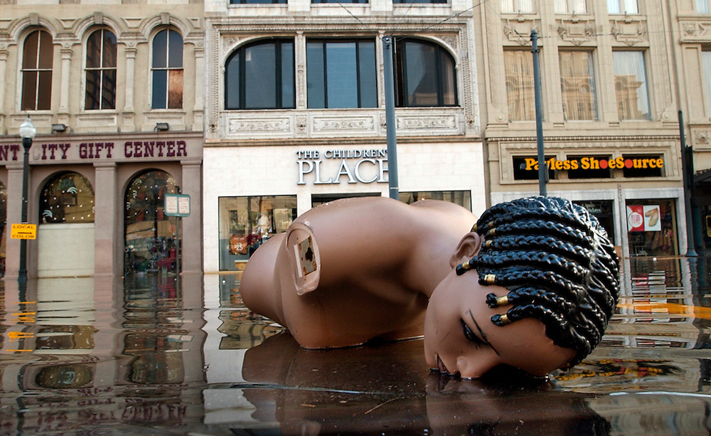(8/31/2005) A broken down mannequin rests on Canal street in the heart of the French Quarter two days after Hurricane Katrina landed in New Orleans sending the city and residents into a tail spin without water or electricity.  (Times photo by Willie J. Allen Jr.)