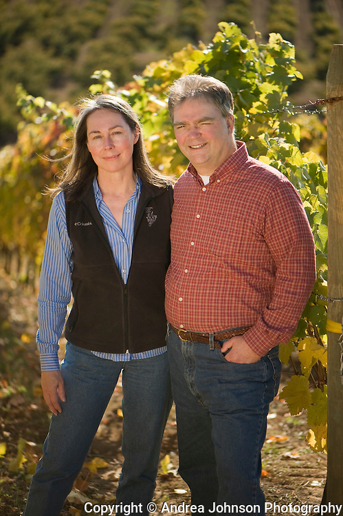 Dick & Dierdre Shea at Shea Vineyards, Chehalem Mountains, Willamette Valley, Orego