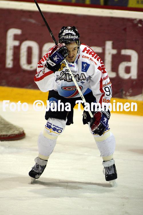 14.02.2009, Isom?en halli, Pori..J??kiekon SM-liiga 2008-09..EURss?t - JYP.Tuomas V?nttinen - JYP.©Juha Tamminen.