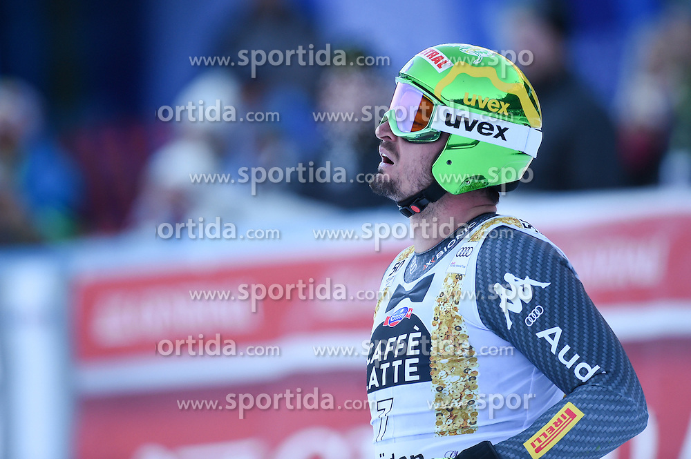 16.12.2016, Saslong, St. Christina, ITA, FIS Weltcup Ski Alpin, Groeden, Abfahrt, Herren, im Bild Dominik Paris (ITA) // Dominik Paris of Italy reacts after his run of men's downhill of FIS Ski Alpine World Cup at the Saslong in St. Christina, Italy on 2016/12/16. EXPA Pictures © 2016, PhotoCredit: EXPA/ Erich Spiess