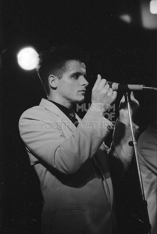 Buddy Curtis and The Grasshoppers playing at Marquee Club London, UK, 1980s.