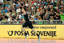 Patrick Groetzki of Germany celebrates during handball match between National Teams of Slovenia and Germany in 2018 Men's World Championship Qualifications, on May 3, 2017 in SRC Stozice, Ljubljana, Slovenia. Photo by Morgan Kristan / Sportida