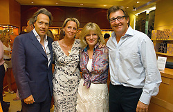 Left to right, the EARL OF MARCH, ANOUSKA AYTON. the COUNTESS OF MARCH and JOHN AYTON at a party hosted by Links at their store in Sloane Square, London to celebrate the forthcoming Glorious Goodwood Racing festival held on 26th July 2006.<br />