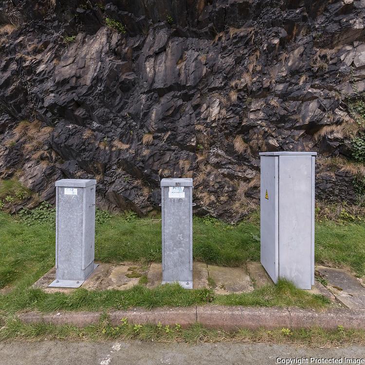 Trio, Penmaen Mawr road tunnel, Conwy.