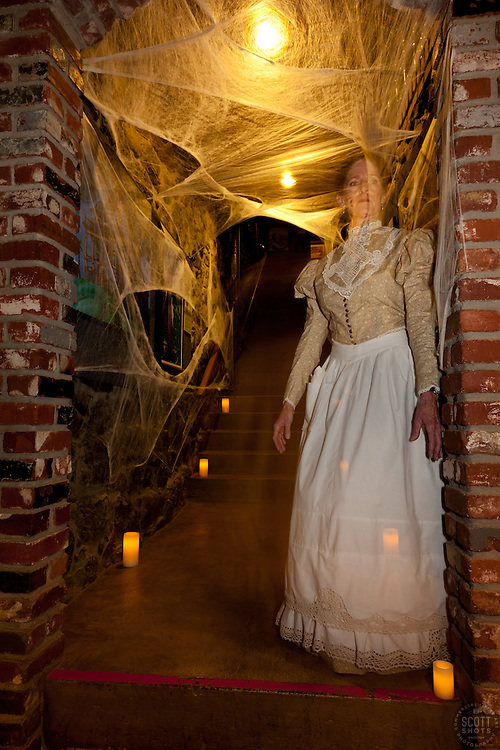 """""""Ghost in Truckee 1"""" - Photograph of a ghost at the 2011 Truckee Historical Haunted Walking Tour."""
