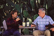 Bruno and Mike Benziger of Glen Ellen Winery in Glen Ellen, California (Sonoma County).  Today the winery is known as Benziger Family Winery and produces high-end table wines at smaller production levels. MODEL RELEASED.