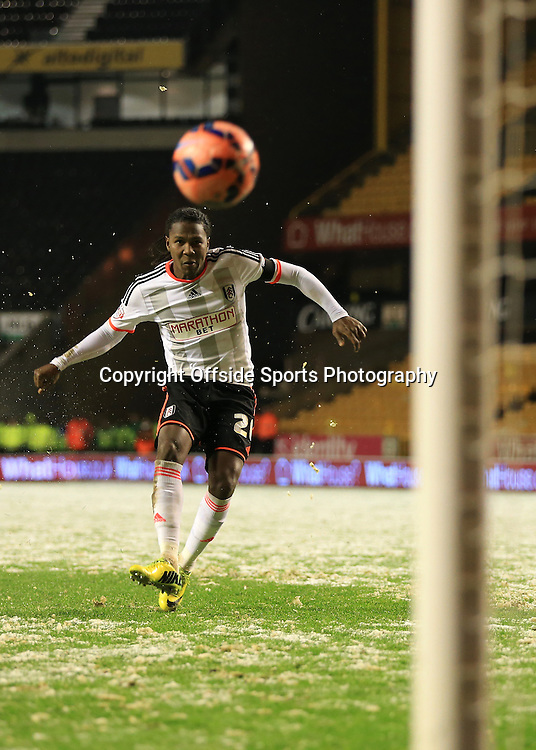 13th January 2015 - FA Cup - 3rd Round Replay - Wolverhampton Wanderers v Fulham - Hugo Rodallega of Fulham scores the winning penalty in the shootout - Photo: Simon Stacpoole / Offside.