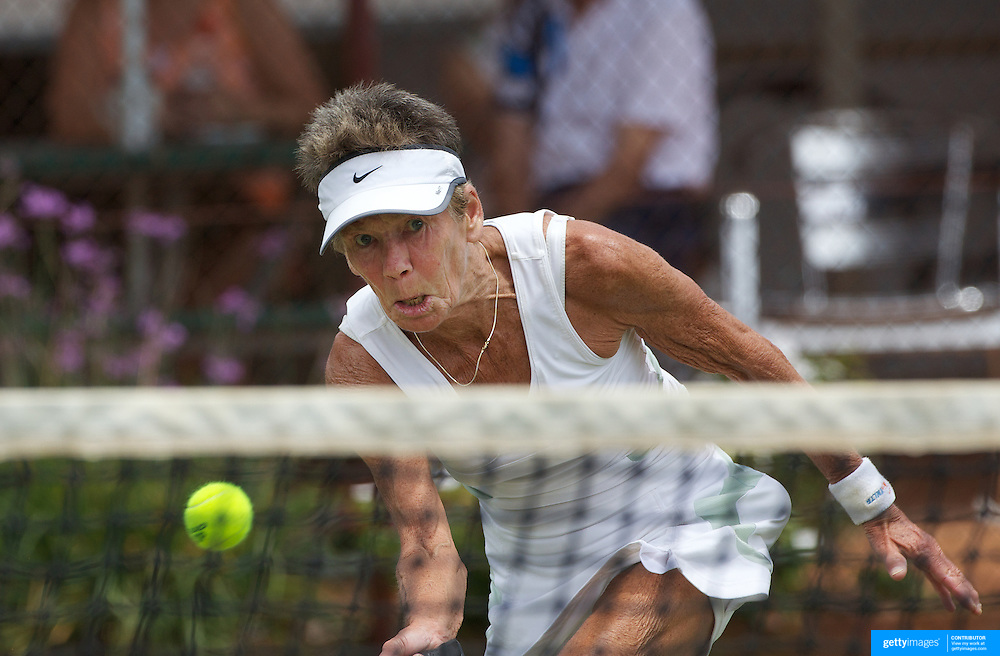 Jacky Boothman, Great Britain, in action in the 65 Womens Singles during the 2009 ITF Super-Seniors World Team and Individual Championships at Perth, Western Australia, between 2-15th November, 2009.