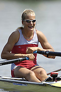 Poznan, POLAND.  2006, FISA, Rowing World cup, POL W1X  Julia  MICHALSKA, moves away from the start pontoon at the   'Malta Regatta course;  Poznan POLAND, Fri. 16.06.2006. © Peter Spurrier   ....[Mandatory Credit Peter Spurrier/ Intersport Images] Rowing Course:Malta Rowing Course, Poznan, POLAND