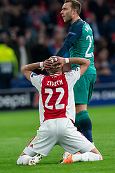 08-05-2019 NED: Semi Final Champions League AFC Ajax - Tottenham Hotspur, Amsterdam<br /> After a dramatic ending, Ajax has not been able to reach the final of the Champions League. In the final second Tottenham Hotspur scored 3-2 / Hakim Ziyech #22 of Ajax, Christian Eriksen #23 of Tottenham Hotspur