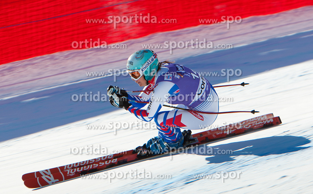 14.01.2012, Pista Olympia delle Tofane, Cortina, ITA, FIS Weltcup Ski Alpin, Damen, Abfahrt, im Bild Marie Marchand-Arvier (FRA) // Marie Marchand-Arvier of France during ladies downhill race of FIS Ski Alpine World Cup at 'Pista Olympia delle Tofane' course in Cortina, Italy on 2012/01/14. EXPA Pictures © 2012, PhotoCredit: EXPA/ Johann Groder