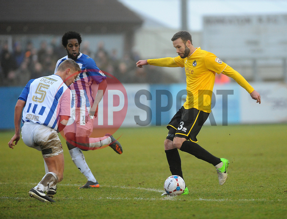 Bristol Rovers' Andy Monkhouse gets a shot away - Photo mandatory by-line: Neil Brookman/JMP - Mobile: 07966 386802 - 04/01/2015 - SPORT - football - Nuneaton - James Parnell Stadium - Nuneaton Town v Bristol Rovers - Vanarama Conference
