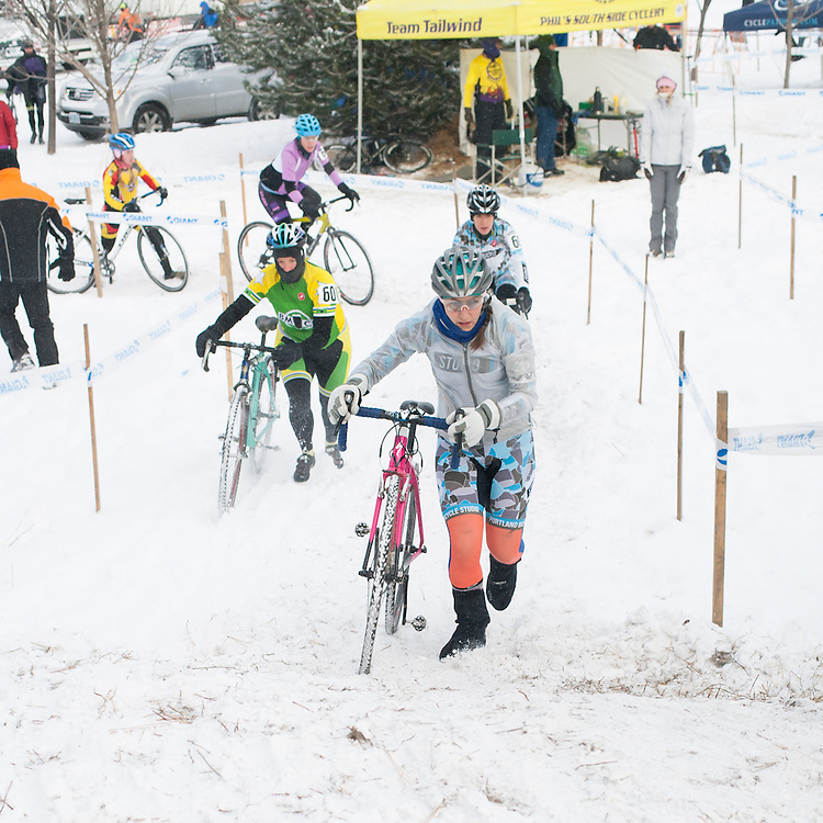 The normally rideable course was a running race on Saturday.  ©Brian Nelson