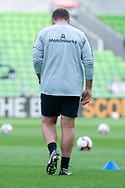 Melbourne City head coach Warren Joyce walks duding warm up at the Hyundai A-League Round 6 soccer match between Melbourne City FC and Newcastle Jets at AAMI Park in Melbourne.
