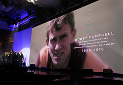 A tribute to Bobby Campbell on the big screen during the Professional Footballers' Association Awards 2017 at the Grosvenor House Hotel, London