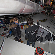 Baptème du bateau de Alan Roura aux Sables d'olonnes par Belinda Bencic