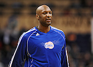Dec. 23, 2012; Phoenix, AZ, USA; Los Angeles Clippers forward Lamar Odom (7) stands on the court prior to the game against the Phoenix Suns at US Airways Center. The Clippers defeated the Suns 103-77. Mandatory Credit: Jennifer Stewart-USA TODAY Sports.