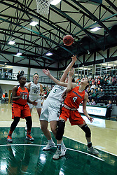 BLOOMINGTON, IL - December 15: Riley Brovelli and Kayla Stefka during a college women's basketball game between the IWU Titans  and the Carroll Pioneers on December 15 2018 at Shirk Center in Bloomington, IL. (Photo by Alan Look)