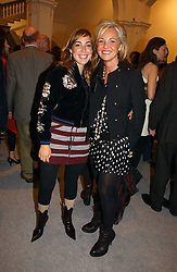 Left to right, PATRICIA BROWN and AMANDA ELIASCH at a reception to celebrate the opening of 'USA Today' - an exhibition of work from The Saatchi Gallery held at The Royal Academy of Arts, Burlington Gardens, London on 5th September 2006.<br />