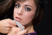 Young lady with jewlery