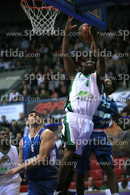 Cristopher Levour Warren and Rawle Marshall (23)  at Euroleague match between KK Cibona and Air Avellino, on November 26, 2008, in Cibona Tower, Zagreb, Croatia. Match was won by Cibona 82:79. (Photo by Vid Ponikvar / Sportida)