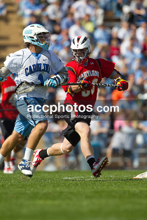 27 March 2010: Maryland Terrapins defenseman Shane Hall (33) during a 9-7 loss to the North Carolina Tar Heels on Fetzer Field in Chapel Hill, NC.