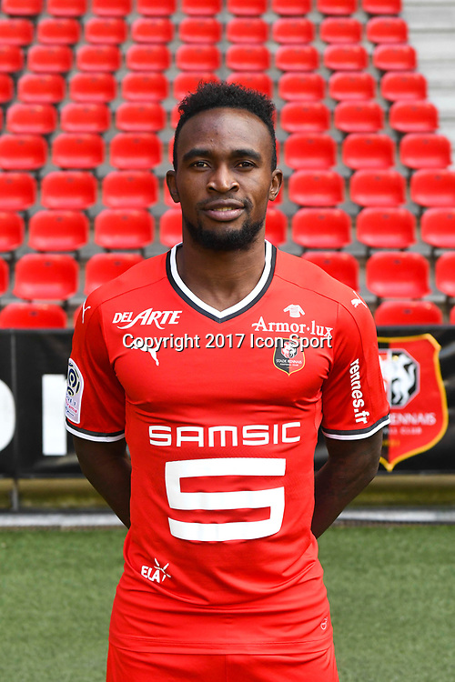 Firmin Mubele Ndombe during photoshooting of Stade Rennais for new season 2017/2018 on September 19, 2017 in Rennes, France. (Photo by Philippe Le Brech/Icon Sport)