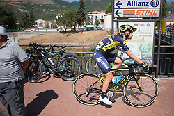 Georgia Williams (NZL) of Orica Scott Cycling Team rides back to the team bus after Stage 9 of the Giro Rosa - a 122.3 km road race, between Centola fraz. Palinuro and Polla on July 8, 2017, in Salerno, Italy. (Photo by Balint Hamvas/Velofocus.com)