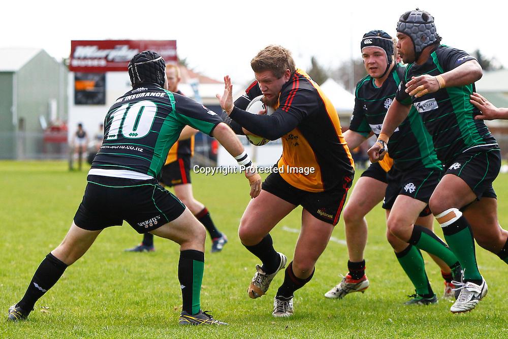 Brynn Hudson scores a try. Heartland Championship rugby - Thames Valley v South Canterbury at Paeroa Domain, Paeroa, New Zealand on Saturday, 24 September 2011. Photo: Ella Brockelsby/photosport.co.nz