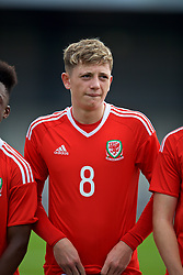 NEWPORT, WALES - Sunday, September 24, 2017: Wales' William Rickard lines-up before an Under-16 International friendly match between Wales and Gibraltar at the Newport Stadium. (Pic by David Rawcliffe/Propaganda)
