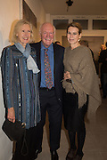 SERENA MORTON AND HER PARENTS, Behind the Silence. private view  an exhibition of work by Paul Benney and Simon Edmondson. Serena Morton's Gallery, Ladbroke Grove, W10.  4 November 2015.