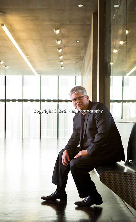 Portrait of the University of Arkansas dean of Architecture, Peter MacKeith, on Wednesday, January 21, 2015, in the Steven L Anderson Design Center in Fayetteville, Arkansas. Photo by Beth Hall