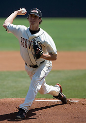 Oregon State Beavers P Michael Stutes (33).  The Oregon State Beavers defeated the Virginia Cavaliers 7-3 in Game 7 of the NCAA World Series Charlottesville Regional held at Davenport Field in Charlottesville, VA on June 5, 2007.  With the win, the Beavers advance to the NCAA Super Regional.