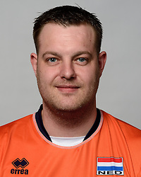 09-05-2014 NED: Selectie Nederlands zitvolleybal team mannen, Leersum<br /> In sporthal De Binder te Leersum werd het Nederlands team zitvolleybal seizoen 2014-2015 gepresenteerd / Loek Hendrix