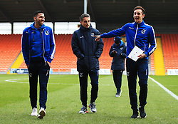 Bristol Rovers players take a walk on the pitch - Mandatory by-line: Matt McNulty/JMP - 13/01/2018 - FOOTBALL - Bloomfield Road - Blackpool, England - Blackpool v Bristol Rovers - Sky Bet League One