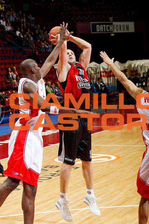 DESCRIZIONE : Milano Eurolega 2007-08 Armani Jeans Milano Lietuvos Rytas <br /> GIOCATORE : Kenan Bajramovic<br /> SQUADRA : Lietuvos Rytas<br /> EVENTO : Eurolega 2007-2008 <br /> GARA : Armani Jeans Milano Lietuvos Rytas <br /> DATA : 25/10/2007 <br /> CATEGORIA : Tiro<br /> SPORT : Pallacanestro <br /> AUTORE : Agenzia Ciamillo-Castoria/G.Cottini