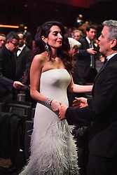 George Clooney and wife Amal during the 42nd Annual Cesar Film Awards ceremony held at the Salle Pleyel in Paris, France on February 24, 2017. Photo by Christophe Guibbaud/ABACAPRESS.COM