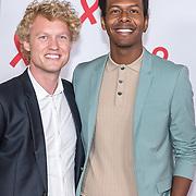 NLD/Amsterdam/20180516 - Koningspaar bij Red Ribbon Concert, Jeangu Macrooy en .......