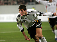 Fotball , 7. februar 2007 , Tyskland - Sveits<br /> 2:0 Jubel Mario Gomez Deutschland<br /> Laenderspiel Deutschland - Schweiz<br /> Norway only