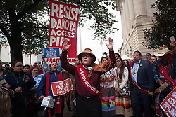 Sep 26, 2016 - Washington, District of Columbia, U.S. - Native American Tribal leaders during a press conference after a meeting with President Obama at the Tribal Nations Conference. The last minute press conference was called to discuss the controversial Dakota pipeline issue. (Credit Image: © Eman Mohammed via ZUMA Wire)