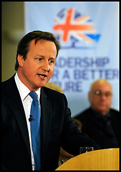 The Prime Minister David Cameron during his Local elections launch in Afreton, Monday April 16, 2012. Photo By Andrew Parsons/I-images